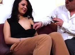 Dreadfully sex-crazed slut convince fake agent back screw their way clothed and very hard