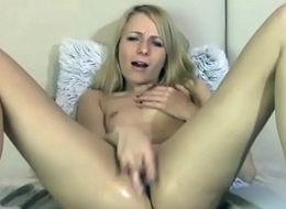 Sexy Blonde Habit-forming Masturbates and Moans their way Wet Pussy - www.trixxxycam.com