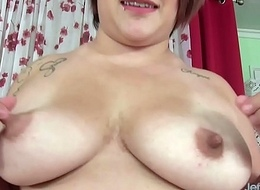 Fat Hottie Pleases Herself concerning Frigs and Fucktoys