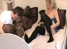 Cuckold sucks BBC with an increment of loves his wife fucking BBC