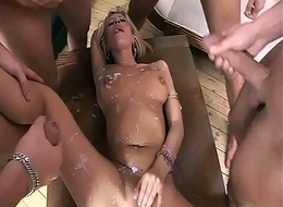 Girl gangbanged perfectly holes!!!