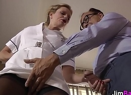 Sex cream euro nurse rides superannuated