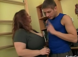 Fitness cram bangs BBW doggystyle