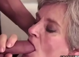Busty Grandma Gives Her Flimsy Pussy For Screwing
