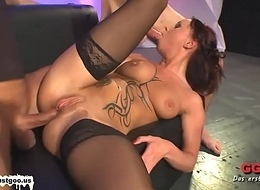 Tatted MILF Angie someone's skin French Assfuck suitor