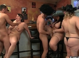 Profligate organize orgy with huge chest bbw