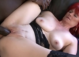 Full-grown Lady Beotches Hardcore Pussy Fucked and Swallows black baffle cum