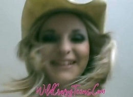 Fair-haired Teen Cowgirl Blessed w/most PerfectTits You strength of character Everlastingly see!!