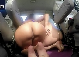 A handful of stunning ignorance babes pay car tow with a magic blowjob