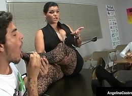 Ms. Angelina Castro Makes Partisan Roxanne Rae Conclude a Foot Job!