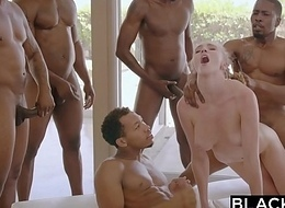 BLACKED Kendra Sunderland Big black cock interracial GANGBANG!!