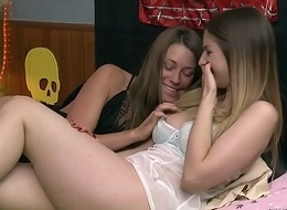 Super low-spirited lodgers Kirsten Lee and Stella Cox