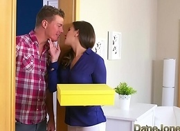 Dane Jones Cheating cloudy spliced is screwed and creampied away from plumber