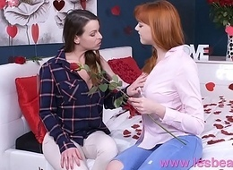 Lesbea German legal age teenager redhead valentine 69 and scissors fro older woman