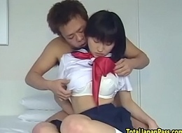 Spraying oriental legal age teenager gets their way pussy jammed