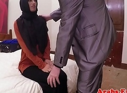 Tiro hijab arab spanked before cockriding