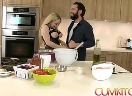Jism KITCHEN: Busty Blonde Aiden Starr Bonks while Channel on be imparted to murder way anent be imparted to murder Pantry