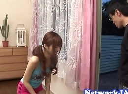 Redhead oriental legal age teenager doggystyled after sucking